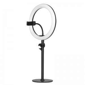 "LAMPA PIERŚCIENIOWA RING LIGHT 10"" 8W LED CZARNA"